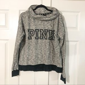 Victoria's Secret PINK Gray Cowl Neck Sweatshirt M